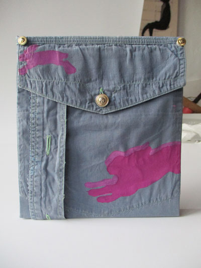Passion Linoldruck auf Jeans